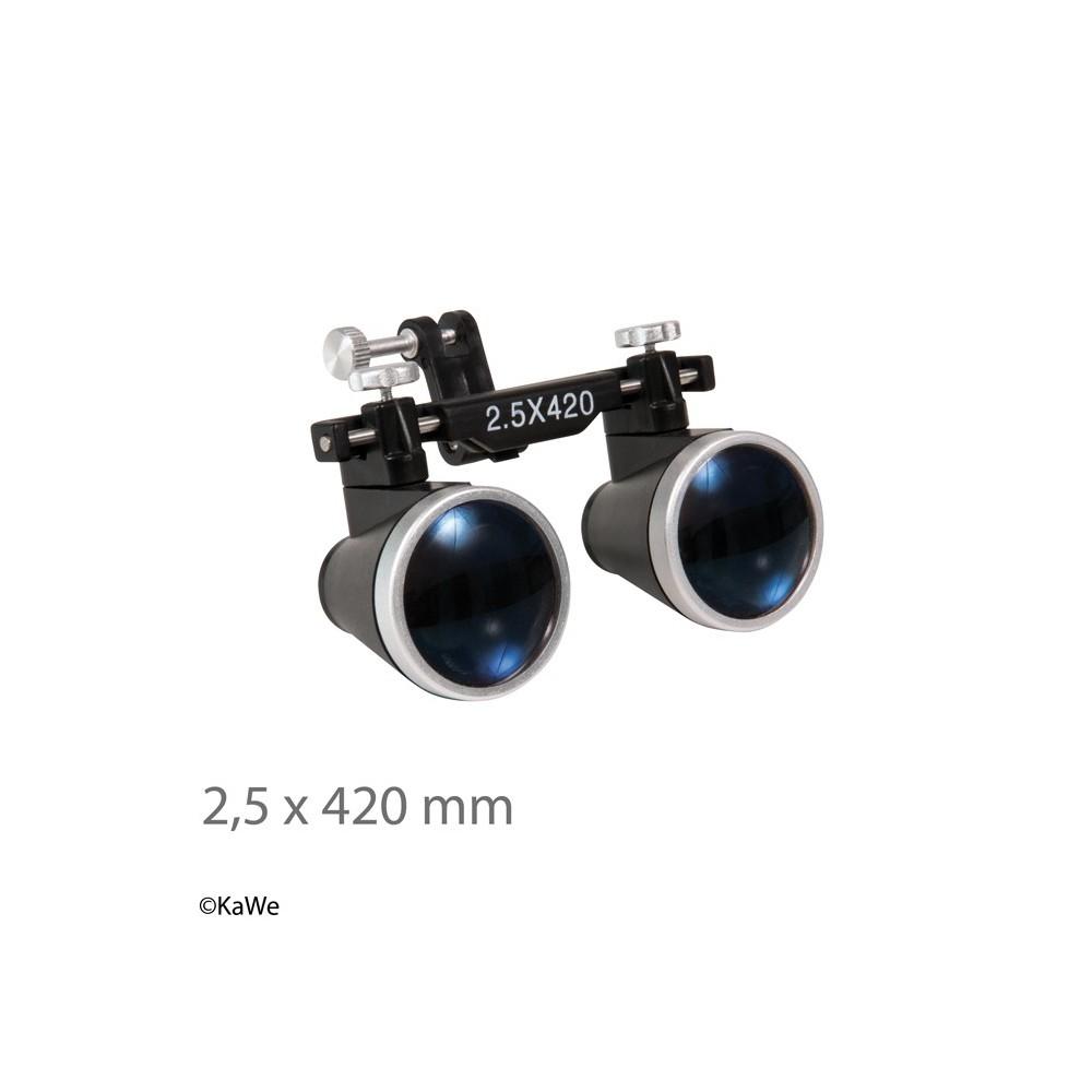 Loupe binoculaire KaWe x 2,5, distance de travail 420 mm