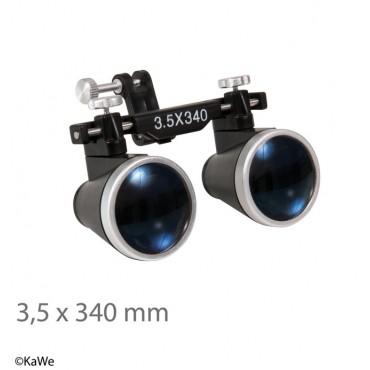 Lenti binoculari KaWe x 3,5, distanza di lavoro 340 mm