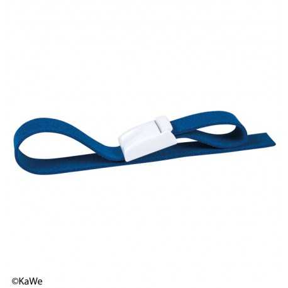 Laccio emostatico KaWe easy clic nastro blu / clip bianca