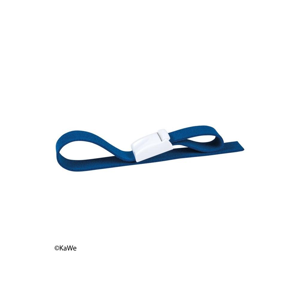 Ruban adhésif bleu / clip blanc KaWe Easy clic pour garrot