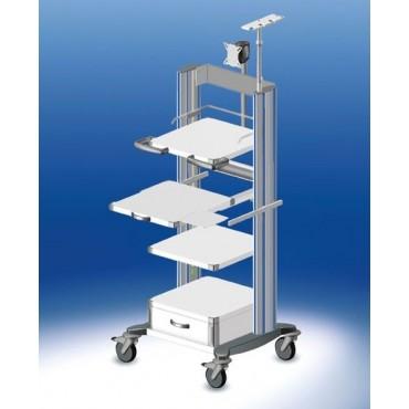 Chariot d'endoscopie HAEBERLE Toro avec 3 panneaux, largeur 45 cm