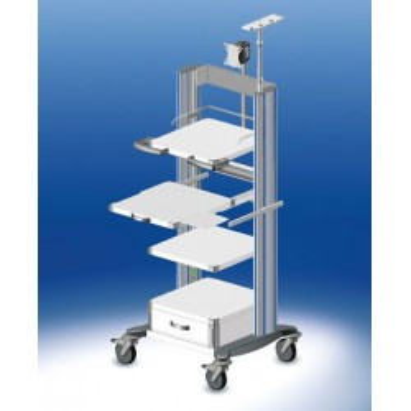 Chariot d'endoscopie HAEBERLE Toro avec 3 panneaux, largeur 60 cm