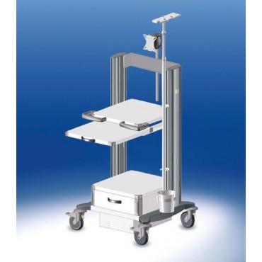Carrello per endoscopia toro HAEBERLE, 4 piastre larghezza 45 cm
