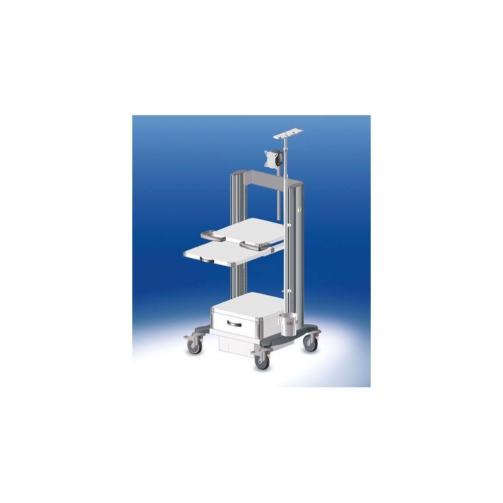 Chariot d'endoscopie HAEBERLE Toro, 4 plaques largeur 45 cm