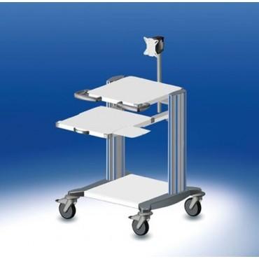 Chariot ordinateur HAEBERLE toro 3 plateaux largeur 60 cm