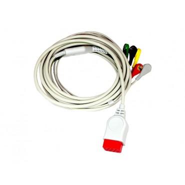Cavo paziente della derivazione ECG a 5 conduttori per Compact 7 e 9