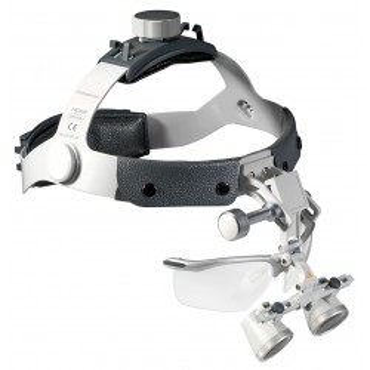 Set di lenti d'ingrandimento HEINE HR 2,5x con i-View su archetto Professional L.