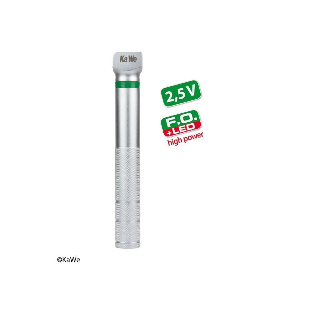 Manico laringoscopio KaWe a batterie FO LED ad alta potenza, AA piccolo