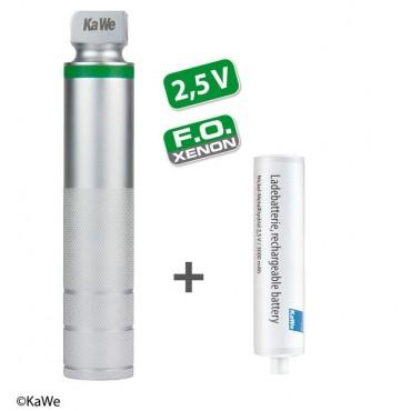 Laringoscopio KaWe manico ricaricabile C medio FO con batteria NiMH