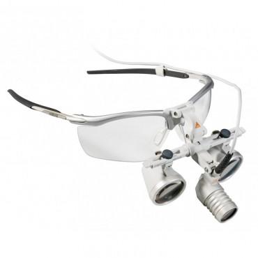 HEINE LoupeLight 2 set con occhialini binoculari HR 2.5x / 340 mm