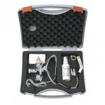 HEINE LoupeLight 2 sets avec loupes binoculaires HR 2,5x / 340 mm