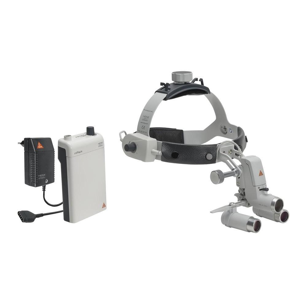 HEINE ML4 LED HeadLight Kit 5c avec loupes binoculaires HRP