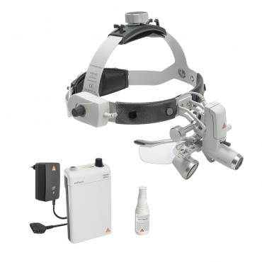 Lampada frontale a LED HEINE ML4 con lenti di ingrandimento HR 2.5x