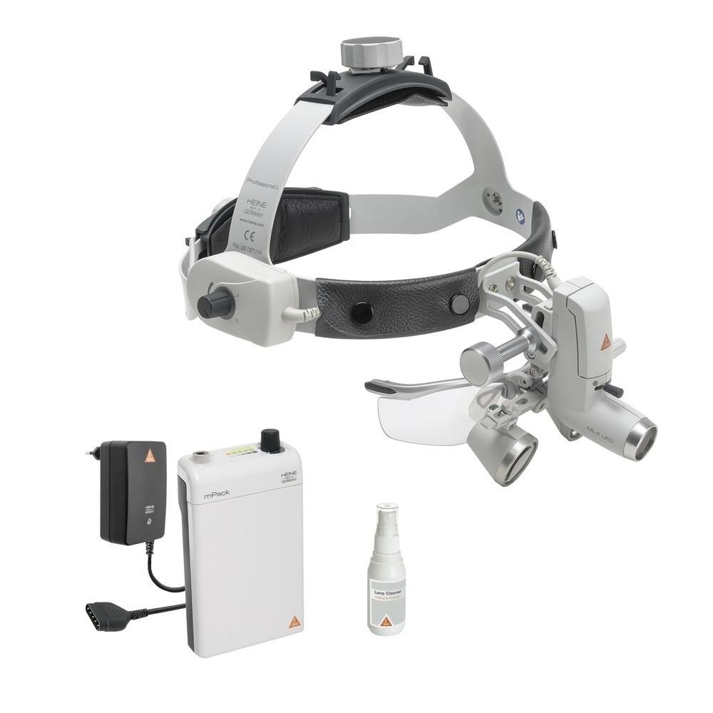HEINE ML4 LED Kopfleuchte mit HR 2.5x Lupen