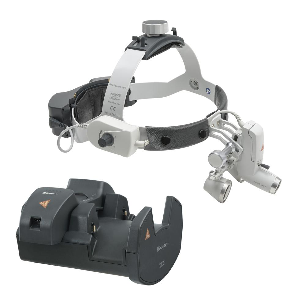HEINE ML4 LED HeadLight UNPLUGGED Kit 6c mit HR Lupen