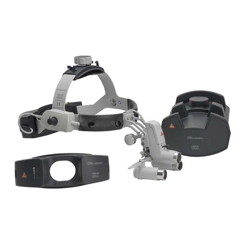 HEINE ML4 LED HeadLight UNPLUGGED Kit 9c mit HRP Binokularlupen
