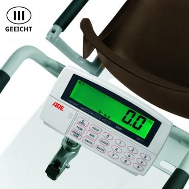 Bilancia calibrata per sedie ADE M400020-01 con 4 ruote piroettanti