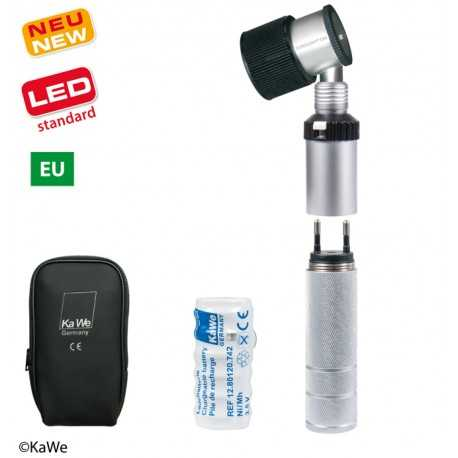 Kit dermatoscope KaWe EUROLIGHT D30 LED rechargeable dans la douille