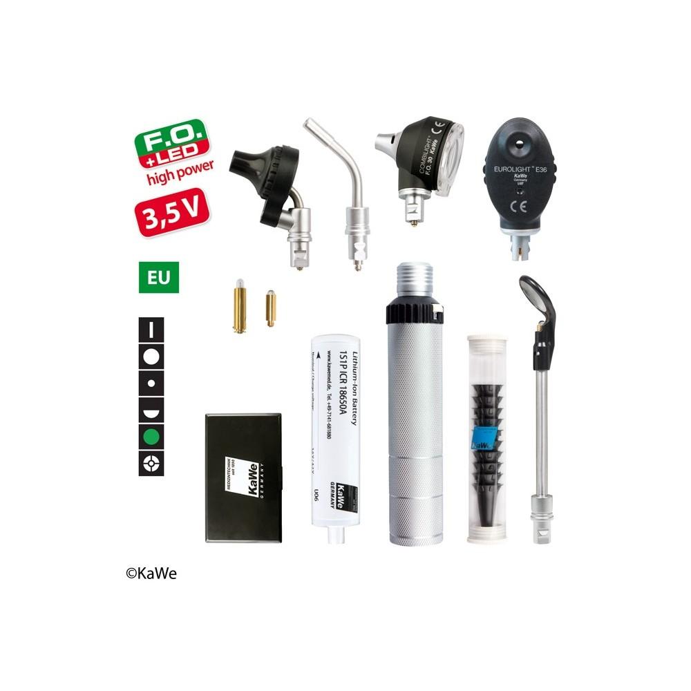 Kit de diagnostic KaWe COMBILIGHT FO30 LED / E36 (filtre vert) 3.5V