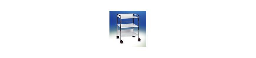 Chariots à étagères pour cabinet et clinique