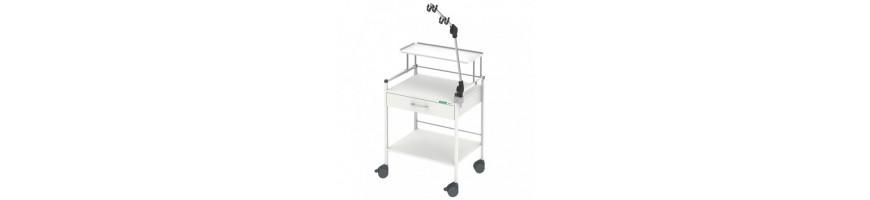 HAEBERLE Ergometriewagen mit Schublade und Kabelhalter für Praxis und Kliniken