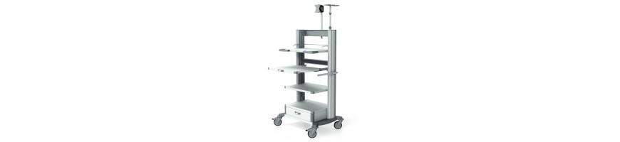 Carrelli per endoscopia HAEBERLE per cliniche e studi